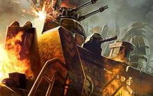 Tiberium Alliances burning GDI base