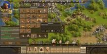 Das Interface von Die Siedler Online