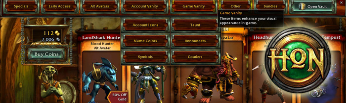 HoN Store Screenshot