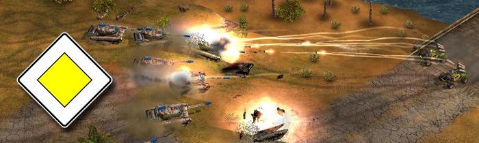 Ballistische Projektile wie in Generals