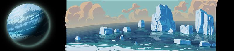 planet ice Planeten und Biome