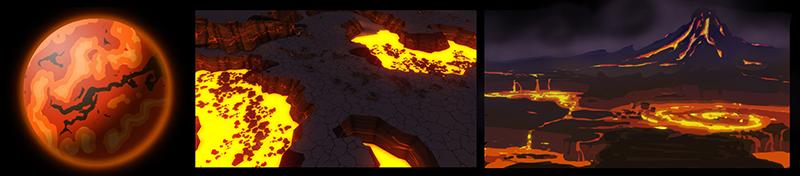 planet lava Planeten und Biome