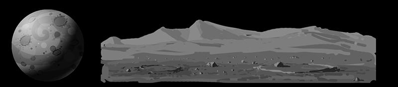 planet moon Planeten und Biome