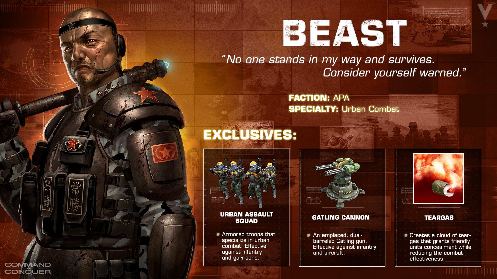 Beast - der Urban Combat General der APA!
