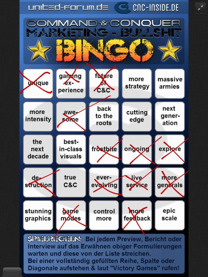 bingo der praesi Wie Victory Games mit Community-Feedback C&C wieder auf Kurs bringen will