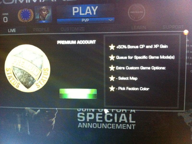 premiumfeatures Premium nun auch für Command & Conquer