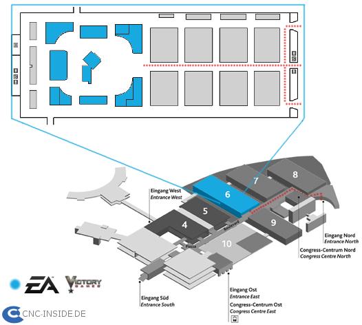 travelinfoeagc branded Command & Conquer auf der GamesCom