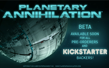 Planetary Annihilation Beta