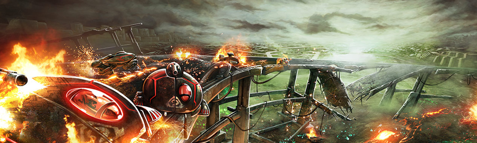 Tiberium Alliances burning bridge
