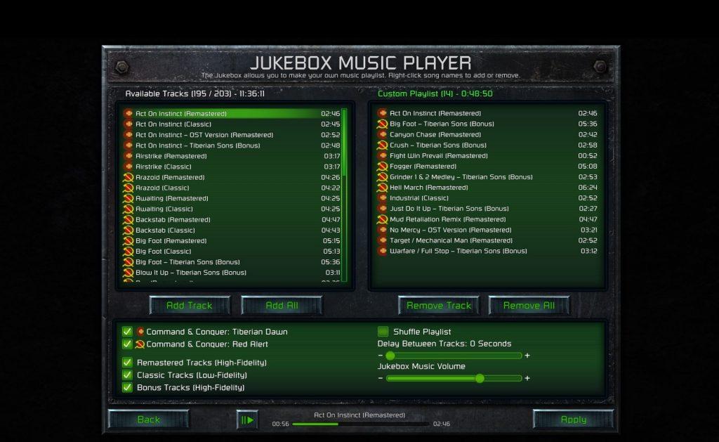 ccrem screenshot jukebox black stripe.jpg.adapt .1920w C&C Remastered Collection