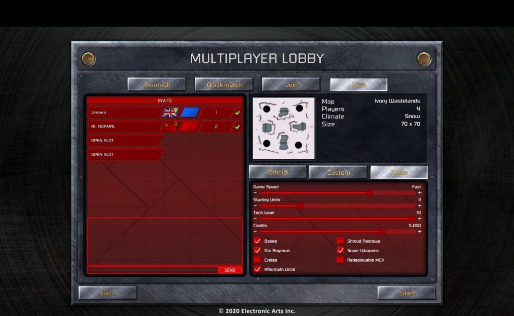 ccrem screenshot multiplayer custom games black stripe.jpg.adapt .1920w C&C Remastered Collection
