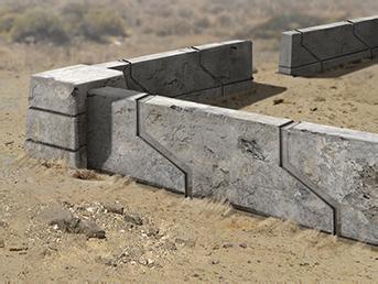 alliierte Betonmauer Betonmauer