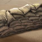 nod sandsackbarriere Sandsackbarriere