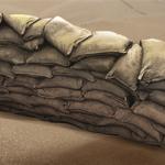 sowjet Sandsackbarriere Sandsackbarriere