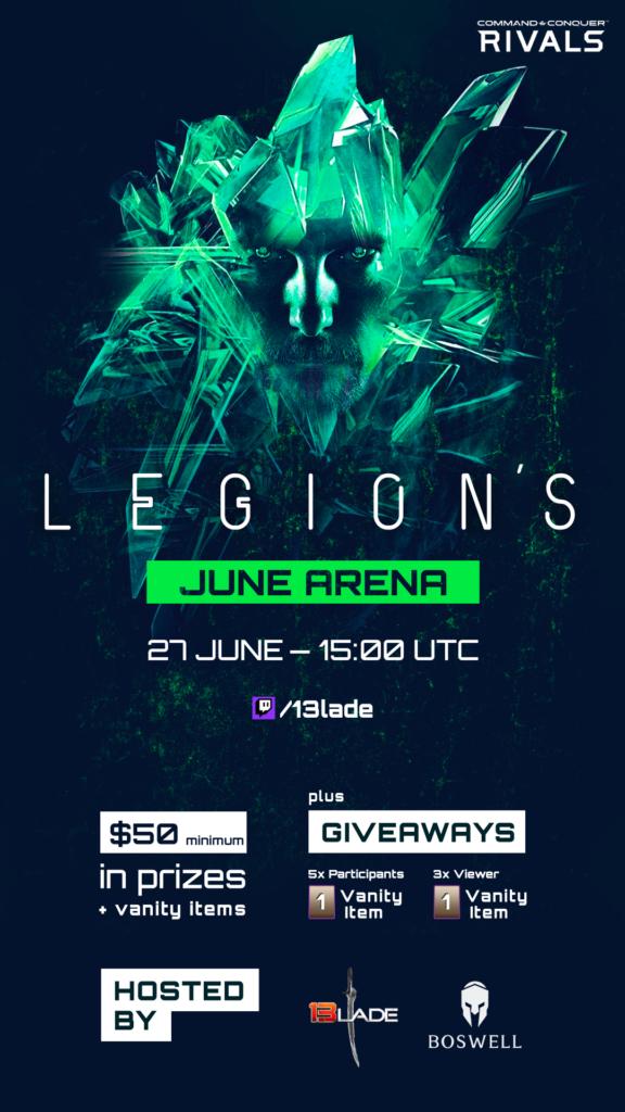 uV7TIll 100 $ im Preispool der LEGION Arena Saison Juni 2020
