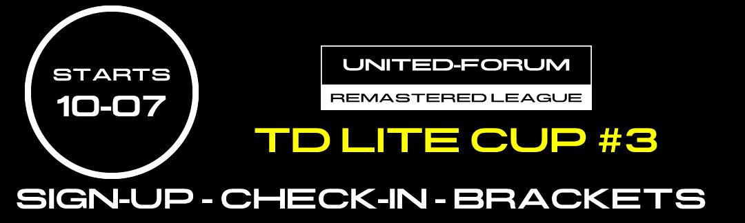 tdlitecup3 Dritter Cup unserer offiziellen Remastered League heute abend!