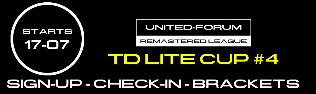 tdlitecup4 Remastered League Runde 4/6 diesen Freitag!